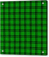 Green And Black  Plaid Cloth Background Acrylic Print