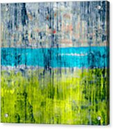 Green and blue Acrylic Print