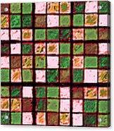 Green And Brown Sudoku Acrylic Print