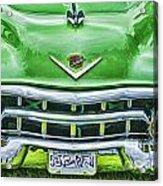 Green And Chrome-hdr Acrylic Print