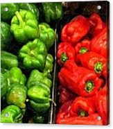 Green And Red Pepper Acrylic Print