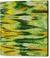 Green And Yellow Abstract Acrylic Print