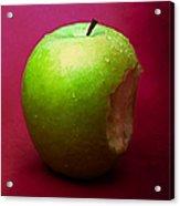 Green Apple Nibbled 1 Acrylic Print