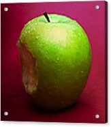 Green Apple Nibbled 2 Acrylic Print