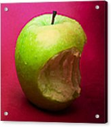 Green Apple Nibbled 3 Acrylic Print