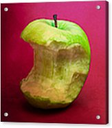 Green Apple Nibbled 8 Acrylic Print