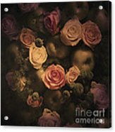 Green Apples And Roses Acrylic Print