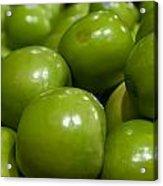 Green Apples On Display At Farmers Market Acrylic Print