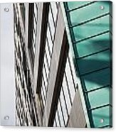 Green Architectural Detail Acrylic Print