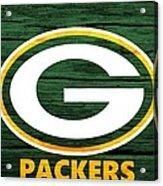 Green Bay Packers Barn Door Acrylic Print