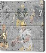 Green Bay Packers Legends Acrylic Print