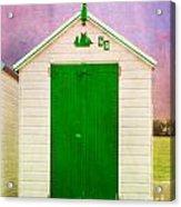 Green Beach Hut Acrylic Print
