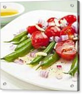 Green Bean And Tomato Salad Acrylic Print by Colin and Linda McKie
