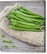 Green Beans Acrylic Print