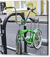Green Bike Acrylic Print