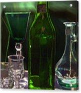 Green Bottle Acrylic Print