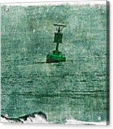 Green Buoy - Barnegat Inlet - New Jersey - Usa Acrylic Print