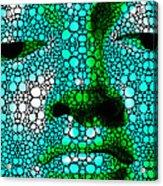 Green Buddha - Stone Rock'd Art By Sharon Cummings Acrylic Print