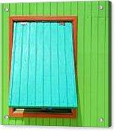 Green Cabin Acrylic Print