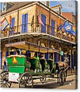Green Carriage  Acrylic Print