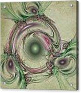 Green Circles Acrylic Print