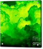 Green Clouds Acrylic Print
