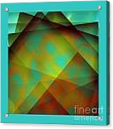 Green Color Package Acrylic Print