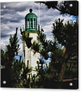 Green Copper Lantern Room On Scituate Lighthouse Acrylic Print