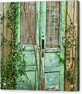 Green Cottage Doors Acrylic Print