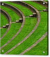 Green Curves And Steps Acrylic Print