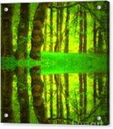 Green Day Dreams Acrylic Print