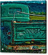 Green Dodge Acrylic Print