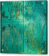 Green Door - Carmel By The Sea Acrylic Print