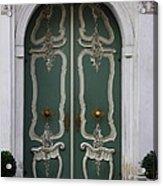Green Door In Gdansk Acrylic Print