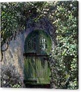 Green Door Acrylic Print by Terry Reynoldson