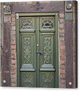 Green Door Ystad Acrylic Print