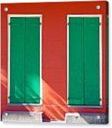 Green Doors With Sun Acrylic Print