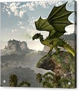 Green Dragon Acrylic Print