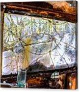 Green Drinking Glass And Smoky Bronken Windshield Acrylic Print