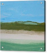 Green Dunes Acrylic Print