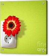 Green Electricity Acrylic Print