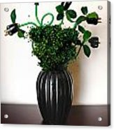 Green Energy Floral Arrangement Of Electrical Plugs Acrylic Print