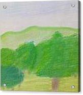 Green Enjoyment Acrylic Print
