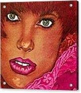 Green Eyed Redhead Acrylic Print