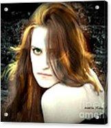 Green Eyes Acrylic Print