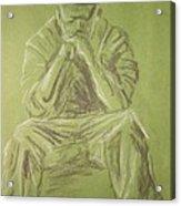 Green Figure I Acrylic Print