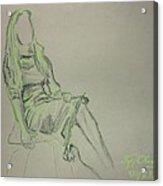 Green Figure II Acrylic Print