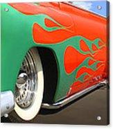 Green Flames Acrylic Print