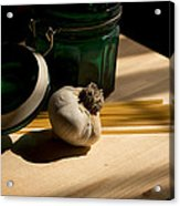 Green Glass And Garlic Acrylic Print