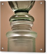 Green Glass Bottle Acrylic Print by Christi Kraft